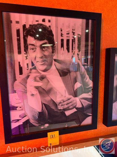 (3) Framed Vintage Photos of Dean Martin