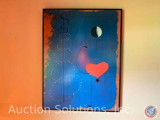(2) Framed Abstract Prints one marked Miro 1525