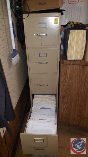 "Hon Four Drawer Filing Cabinet 15"" x 27"" x 52"""