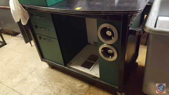 "Coffee Bar w/ (3) Drawers, (2) Cup Dispensers 52"" x 33"" 39"""