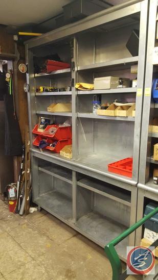 """Steel Cabinet {{NO DOORS}} 64"""" x 16"""" x 88"""""""
