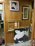 (2) Framed Nagel Posters, Framed Oil Painting Signed Schiller