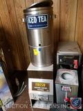 Cecilware Ice Tea Dispenser {{NO SPOUT}}, Fresh Ground Coffee Dispenser Equipment ID 7361