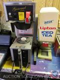 Gourmet Coffee Brewing System Model 8782, Bimm Coffee Dispenser Model No. 1.5GPR-FF, Lipton Iced Tea