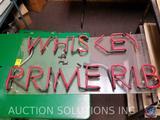 Whiskey Prime Rib Neon Sign {{NO TRANSFORMER}}