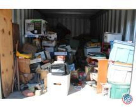 Contents of 10 x 20 storage unit- $100.00 clean out deposit added to invoice, refunded after manager