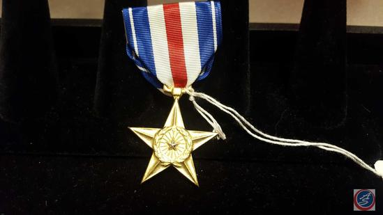 "US Army VietNam Era Silver Star Decoration. The dimensions are 1 3/8"" wide by 1 13/16 tall. The"