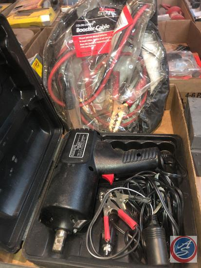 """Chicago Electric 12 V 1/2"""" Impact Wrench Model No. 36175, Super Start Booster Cables"""