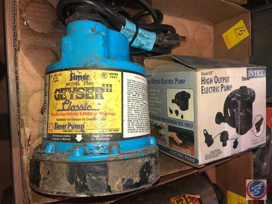 Intex High Output Electric Pump, Geyser III Simer Pump Submersible Utility Pump