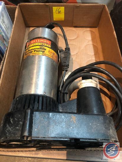 Craftsman Submersible Sump Pump {{NO VISIBLE MODEL NO}}