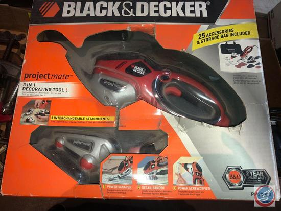 Black and Decker Project Mate 3 In 1 Decorating Tool {{NEW IN BOX}} Model No. PM3000B (Incl. Power
