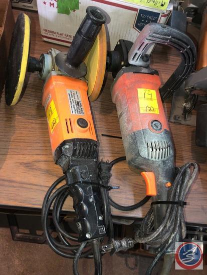 "(2) Chicago 7"" Electric Polisher/Sander Single Phase Motor Model No. 41213"