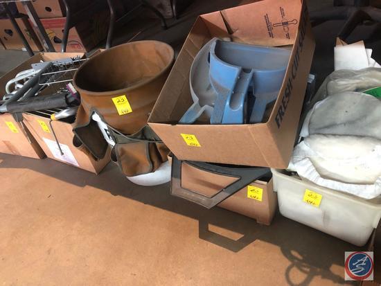 5 Gallon Bucket Tool Belt, Buffer Pads, Hardware, Baker's Square Pie Tins, Dust Pans, More
