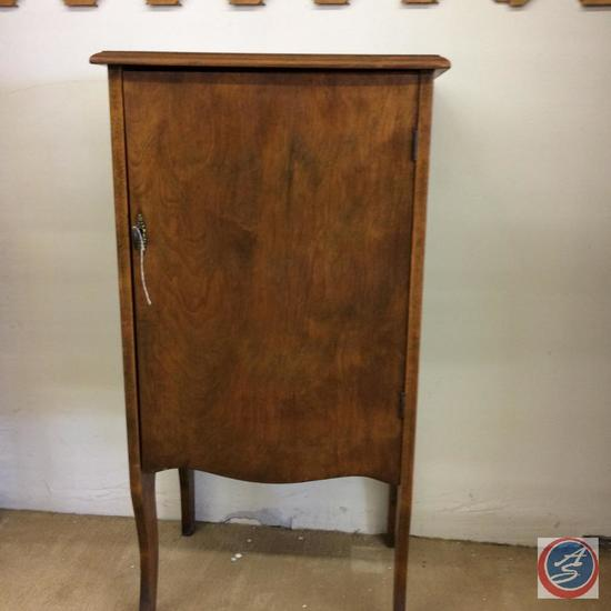 Antique Record Cabinet with key