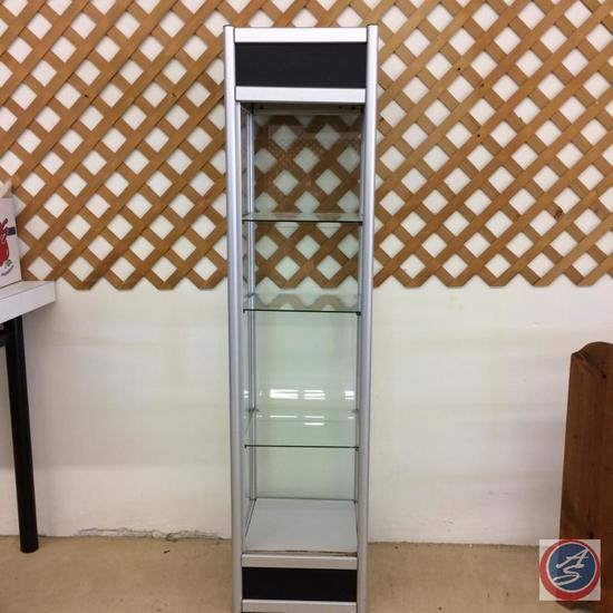 "Tall Glass Display Cabinet - 4 shelves, open front 71 1/2""x17""x17"""