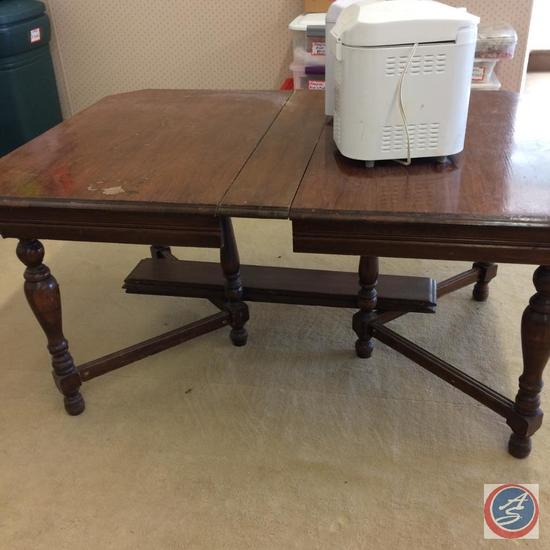 "Antique Table with 2 additional 6"" leafs - 60""x41 1/2"""