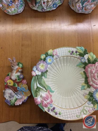 Fitz & Floyd Spring Wall Hanging & Spring Bowl (have original bowl box)