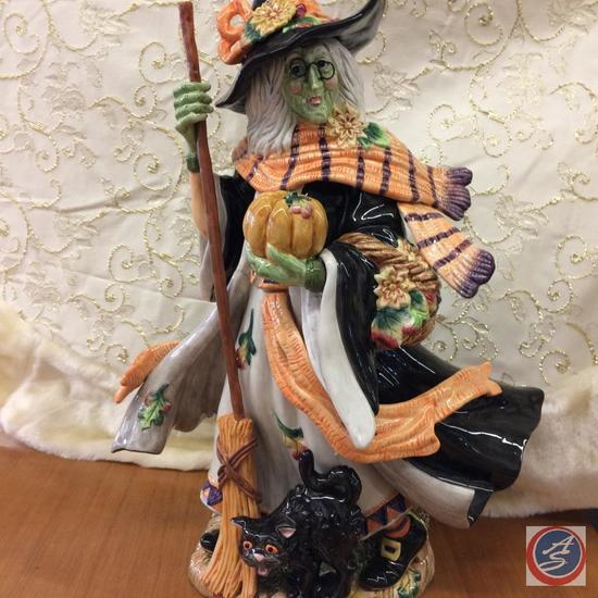 Fitz & Floyd Classics Halloween Harvest Witch (have original box)