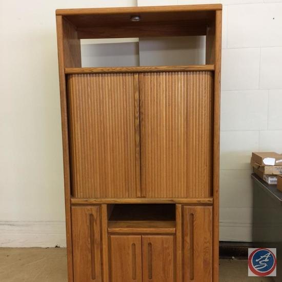 "Oak TV Cabinet - 75'x44""x22"" -"