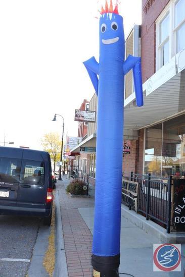 10 ft. Blue 'Fan Man' Air Dancer Inflatable Tube Sidewalk Advertisement w/ Blower Fan