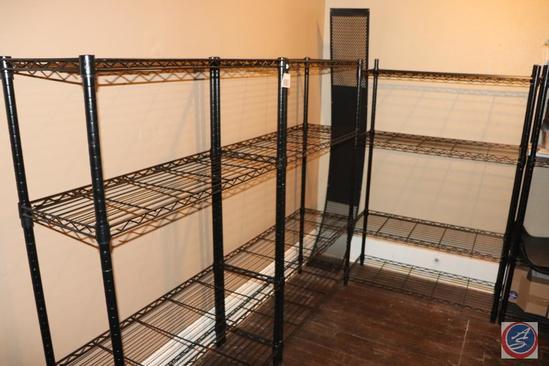 [3] 4-Shelf Wire Racks