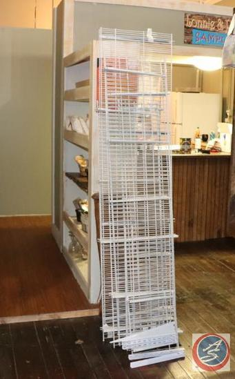 White Grid Wall Panels w/ Shelf Brackets