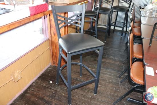 {{6x$BID}} (6) Padded Seat Bar Height (30 in.) Chairs w/ Metal Frame {Sold 6x the Money}