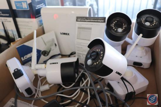 Lorex HD Wireless Security DVR and [4] Video Camera Monitor System Model LHB806-D