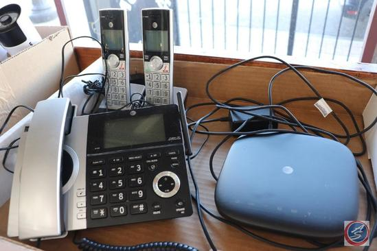 AT&T Cellular to Landline Phone System w/ [2] Cordless Phones and Bases, Plus One Corded Phone