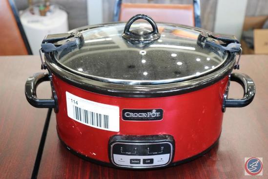 Crock Pot Digital Slow Cooker w/ Removable Insert Model SCCPVLR609-R