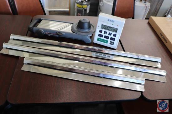 [2] 3 ft. and [1] 2ft. Order Ticket Holders; Adjustable Size Mandolin Food Slicer FMP 4-Way Kitchen