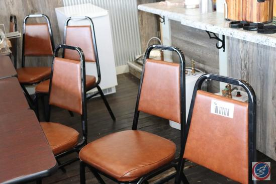 {6x$BID} [6] Lancasters Light Brown Padded Restaurant Chairs {{Sold 6x the Money}}