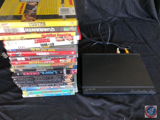 Sony DVD player with 18 DVDs