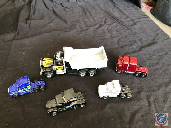 Five collectible trucks