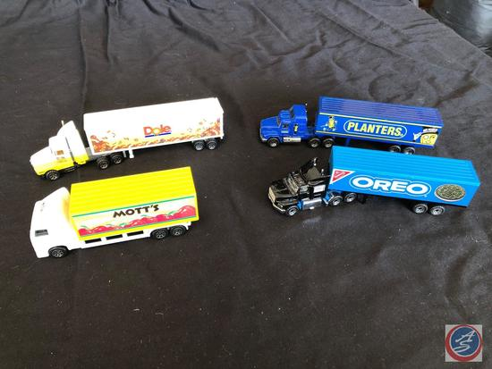 Four collectible Semi?s with trailers