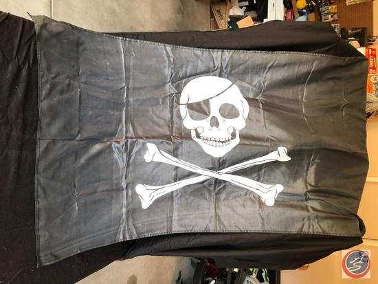 5 ft x 34 in pirate flag with grommets
