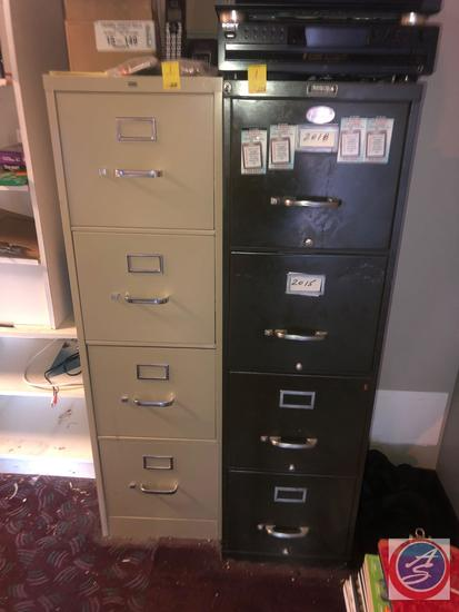 "{{2X$BID}} Invincible 4 Drawer Filing Cabinet Measuring 15"" X 28""X 52"" and Hon 4 Drawer Filing"