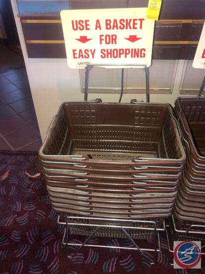 Shopping Basket Stand with Baskets