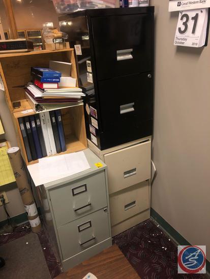 "{{3X$BID}} (2) WP Johnson 2 Drawer Filing Cabinet Measuring 15"" X 18"" X 29"" and 2 Drawer Filing"
