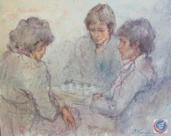 "Original Painting on Canvas ""Untitled"" by Antonio Gonzalez Collado"