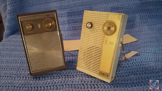 Zenith Royal 250 Transistor Radio, Zenith Royal 280 Transistor Radio