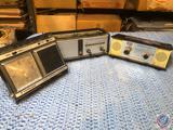 National Panasonic 6 Transistor Radio Model No. R-7, Peerless Globe Trotter Clock Radio and WW 6