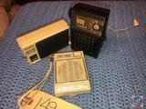 Kroy 10 Transistor Radio with Ear Bud, Precor 616 AM Transistor Radio and Solid State 7 Transistor