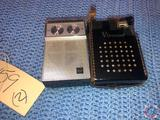 Vintage Viscount Transistor Radio in Case [[CANNOT GET CASE OPEN]] and RCA AM/FM 9 Transistor Radio