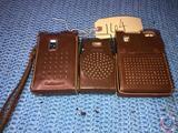 Vintage Continental 6 Transistor Radio TR-182 Blue in Case, Royal 6 Transistor Radio in Case and
