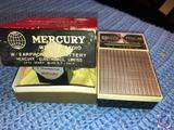 Vintage Zenith Royal 180 8 Transistor Radio and Mercury Wrist Radio Model No. ME-1