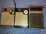 (2) General Electric 7 Transistor Radios and Trutone Radio Model No. DC-3351