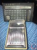 Raleigh De Luxe 8 Transistor Radio and Magnavox AM Transistor Radio Model No. 2-AM-802