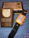 General Electric Transistor Radio Model No. P1730A, Wrist Band Radio [[NO MARKINGS]], Panasonic All