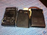 The Nature Company Solar Powered Radio, Nobility Pocket Transistor Radio and Caravelle Transistor